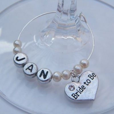 Bride To Be Personalised Wine Glass Charm